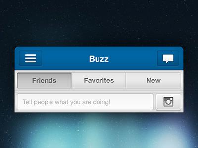 Buzz UI mobile design ui new feature