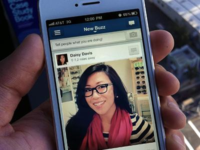New Buzz ui mobile design