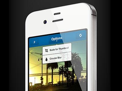 Options ui mobile design skout ux iphone