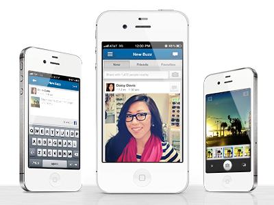 Buzz Final ui mobile design iphone design app design ux