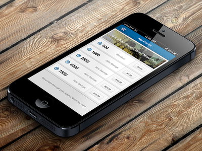 Points Screen ui mobile design skout ux iphone