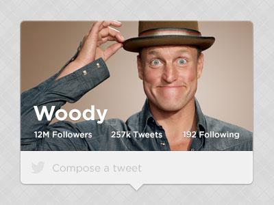 Woody Profile twitter ui mobile web
