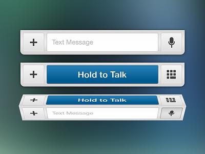 Messages Bar ui mobile design skout ux iphone app