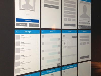 Wireframing ui iphone clean simple ui photoshop ai