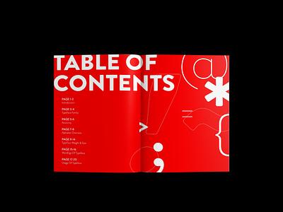 Publication | Type Specimen typography design graphic design