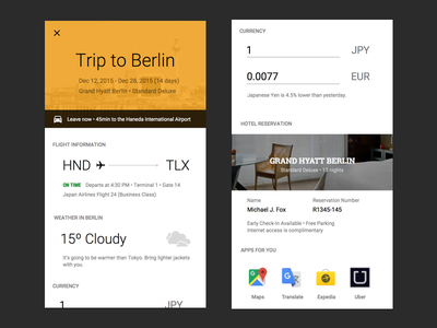 Itinerary design hotel ux ui itinerary flights trips visual design