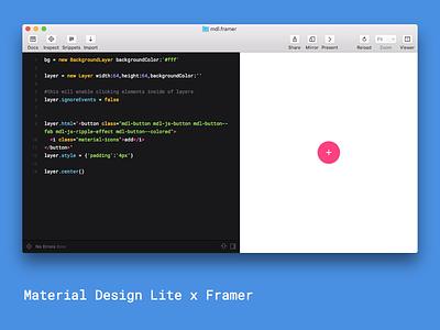 MDL x Framer google interactiondesign mdl prototype framer materialdesign