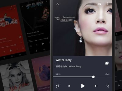 Android Music Player prototype framerjs uidesign playmusic materialdesign android musicplayer