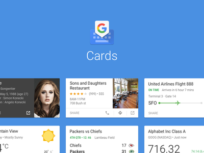 Cards in Gboard keyboard card google gboard