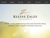 Kleine Zalze - website coming soon!