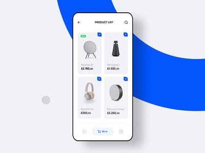 Bang & Sound System (Animated) bang sound system headphone design ios mobile app ux ui