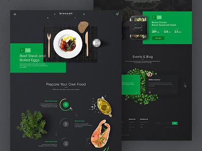 Diet Basket - Landing page web ux ui responsive page onepage mobile landing homepage design diet