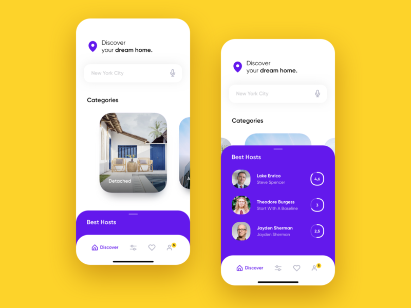 Anthill - Real Estate Home Screen design minimal android fresh ui app white house rent mobile ux ios