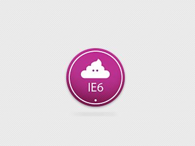 IE6 - badge ie6 badge pink