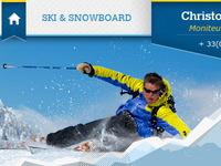 Ski & SnowBoard blue grey snow css3