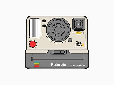 Polaroid OneStep 2 Camera Vector Art key6 art key6art popart polaroid camera camera polaroid drawing vectorart digitalart illustration