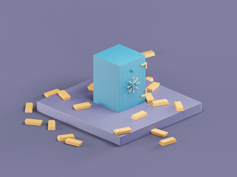 Safe isometric design blender3d design illustration isometric illustraion blender 3dmodeling 3dillustration