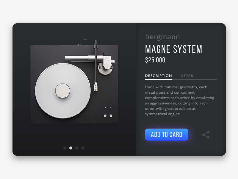 Product card magne