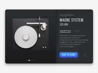 Turntable Product Card