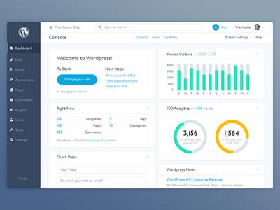 Wordpress Dashboard Redesign