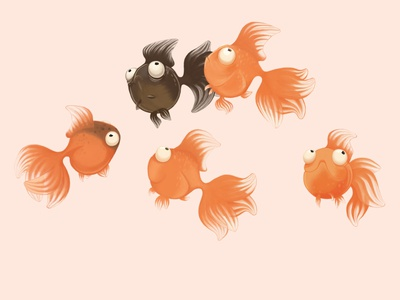 Gold fish illustration animal illustration gold fish fish