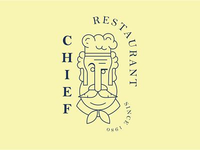 Chief restaurant logo logo design vector