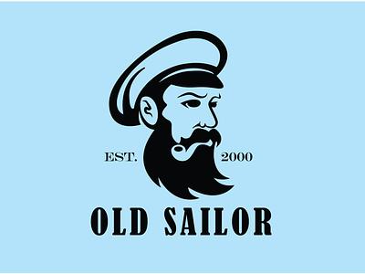 Old sailor logo sailor logo logo design vector
