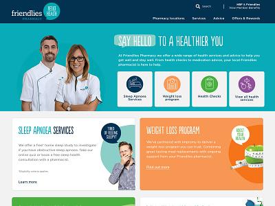 Friendlies Pharmacy graphic design ux design ui branding illustration