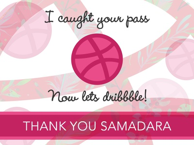 Thank you Samadara Ginige!  invite new sharing monday pink debut