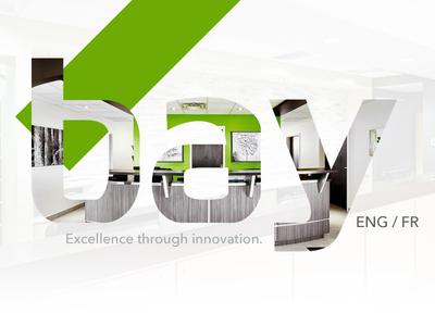 Bay / Branding splash landing page green duotone graphic design redesign branding