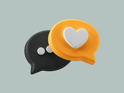 3D Icons Pack - Romance icon 3d icon 3dmodeling 3ddesigns ui render 3ddesign design 3d c4d cinema 4d colors icon design illustration