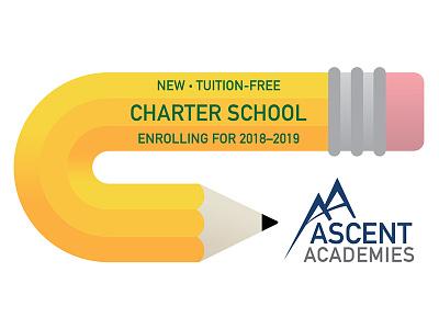 Charter School Ad school illustrator vector illustration pencil ad