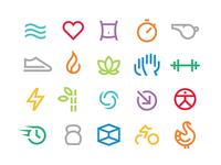 VASA Fitness Icons