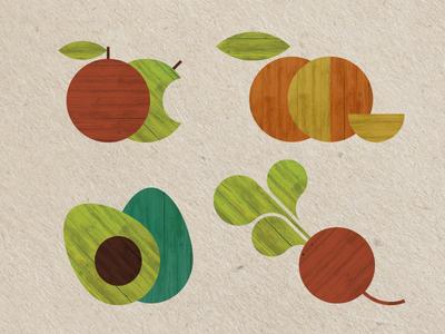 Farmers Market Poster Illustrations