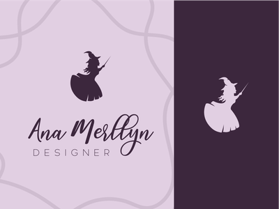 Ana Merllyn LOGO illustrator web store logo illustration icon graphic design minimal design branding