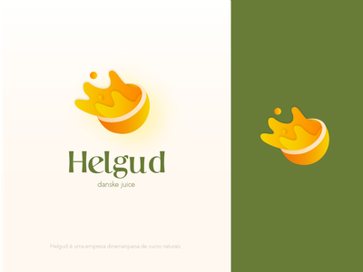 Helgud juice illustrator store logo illustration icon graphic design minimal design branding