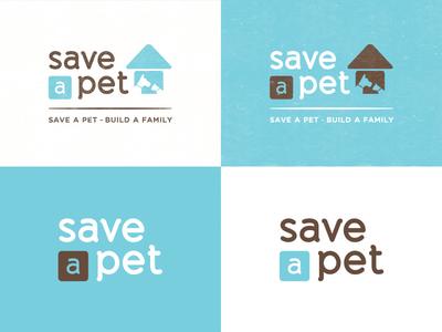 Save-A-Pet Logo logo branding pets save a pet animal rescue animal shelter animal adoption