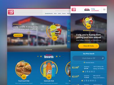 Speedway gatorade loyalty rewards cpg products retail progress bars clubs web speedway