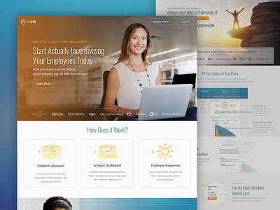 Sales Landing Pages hr student loan management tuition landing page