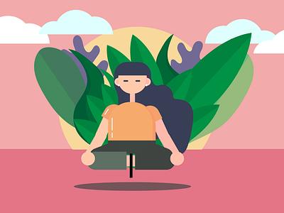 Meditation Illustration logo vector illustration vector art illustrator art illustrations illustration art app ui art vector design illustrator illustration