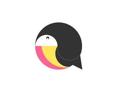 Toucan Logo icon logo logotype logos logodesign illustration art illustration vector design ui