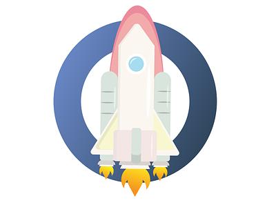 rocket simple space spaceship rocketship rocket illustration illustrations illustrator ui illustration art art vector design