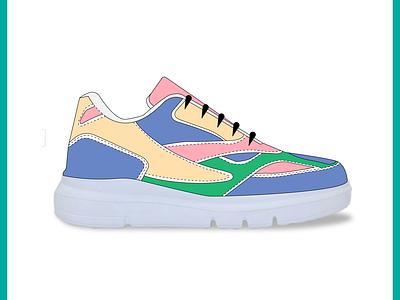 sneaker vector art vector illustration vectorart sneaker art sneaker illustration illustration footwear shoes sneaker illustrations illustrator illustration art art vector design