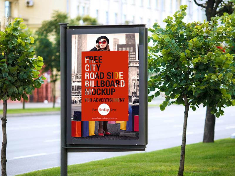 Free City Road Side Billboard Mockup For Advertisement free mockup mockup