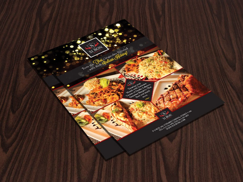 hotel restaurant flyer design template by ess kay uiconstock