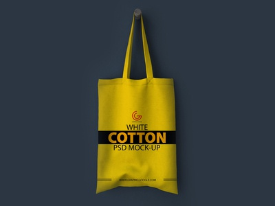 White Cotton Bag Psd Mock Up