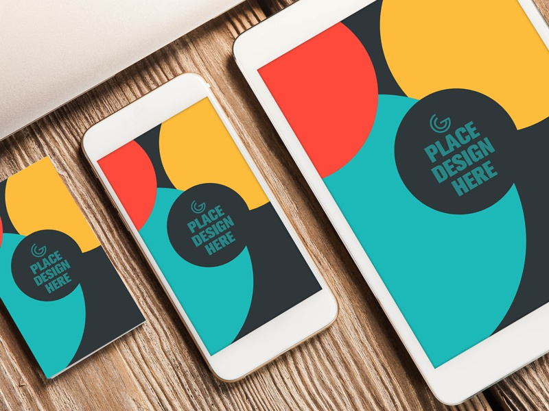 Free Business Card, Smart Phone and Tablet Mock-up PSD tablet mock-up smart phone mock-up business card mock-up free mockup mock-up