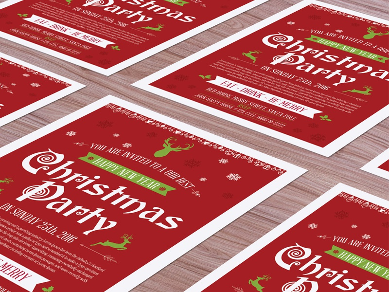 Free christmas flyer mock up psd