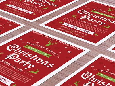 Free Christmas Flyer Mock-up Psd flyer mock-up christmas
