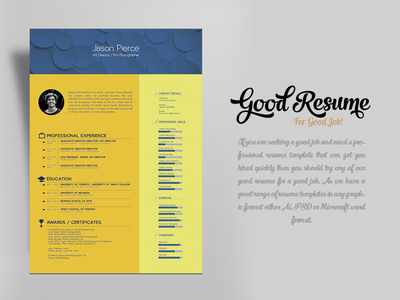 free resume template for graphic designer art director